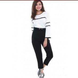 Fairebelle Tula Knitted Strip Top - White