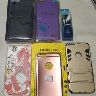 Assorted Iphone 6 plus casing and 1 cable