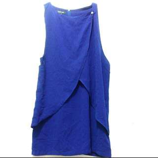 Mini Dress Electric Blue