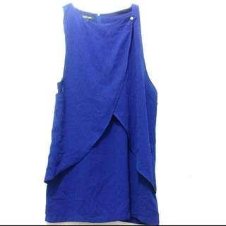 Mini Dress Electric Blue