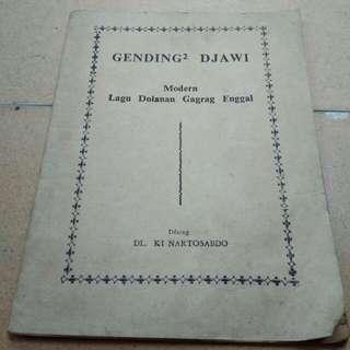 Buku Gending2 Djawi