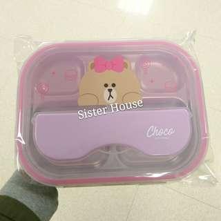 🇰🇷LINE Friends Choco Plate Set 熊妹不鏽鋼餐碟套裝