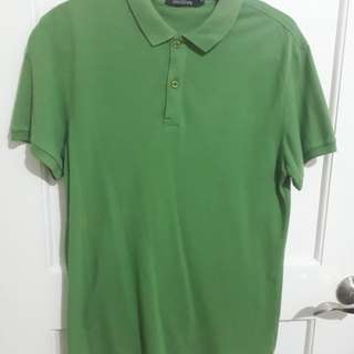 Folded and Hung Green Shirt