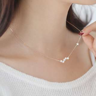 Gold Clavicle Star Necklace