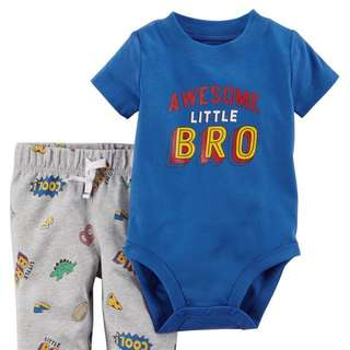 Carter's awesome bro Romper Set