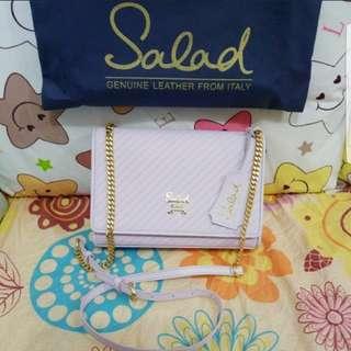Salad 罕有粉紫色新款二用手袋