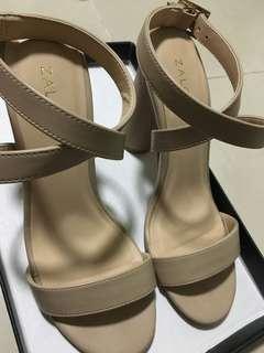 Nude Cross Strap Heels