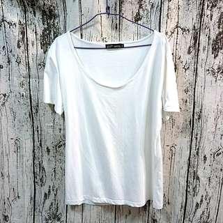 🚚 上衣 圓領 T Shirt  T恤 內搭 外穿 白色上衣