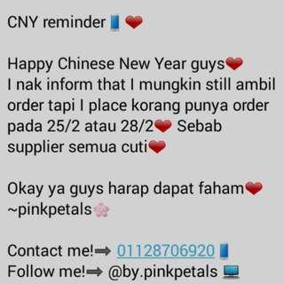 Please read my beloved customer❤