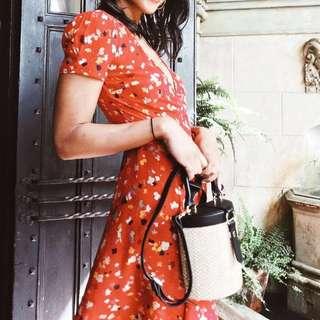 Valentina Wrap Dress - Fleur