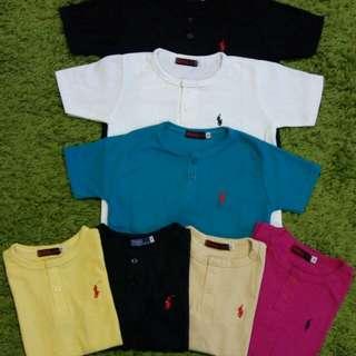 Kaos Nak Polo Kids Button Tee Size 4-6 Thn