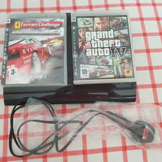 PS3 console & 2 games