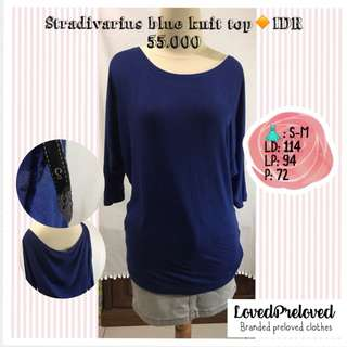 Stradivarius blue knit top