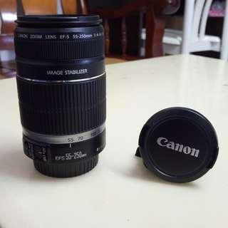 🚚 Canon Lens 55-250Mm