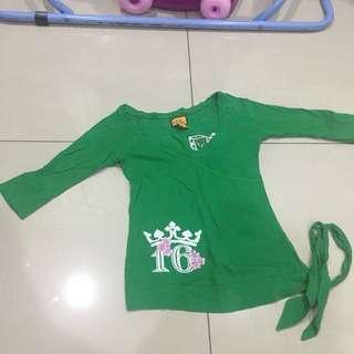 Green half sleeve blouse