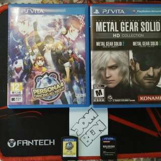 (PSV games) Persona 4 Dancing All Night and MGS HD Collection