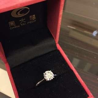 周大福 1卡 鑽石 GIA diamond
