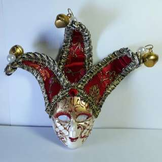 Souvenir 3D Mask Ref Magnet (Annual Festival Carnival of Venice, Italy) 5 Inches