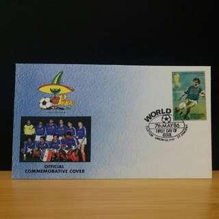 1986年 法國 世界杯首日封