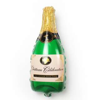 PartyHero jumbo champagne bottle foil balloon with helium