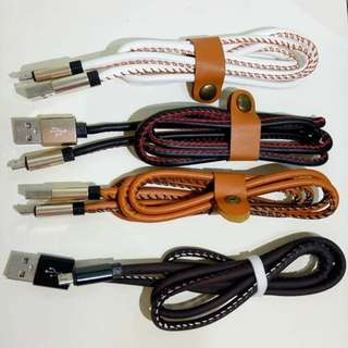 Micro USB Cable (leather)