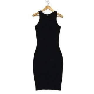 COTTON ON Black Midi Bodycon Dress
