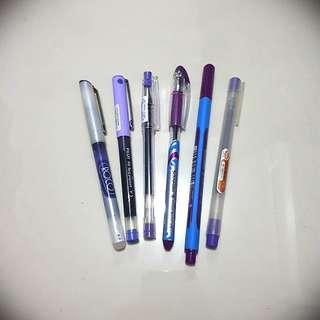 6 pcs. Violet Pen Set