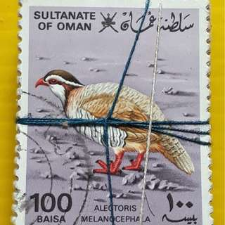 100 STAMPS LOT ( 1 BUNDLE ) - SULTANATE OF OMAN - 100 Baisa - Bird - Used Stamp