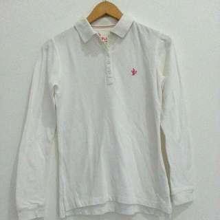 Polo Putih Lengan Panjang / Polo Putih