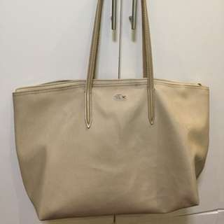 AUTHENTIC - Lacoste Chantaco Beige Tote