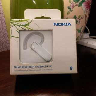 【 NOKIA 諾基亞 】 Bluetooth Headset (White) 無線 耳筒 (純白)