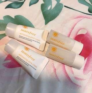 Innisfree whitening pore cream and pore skin