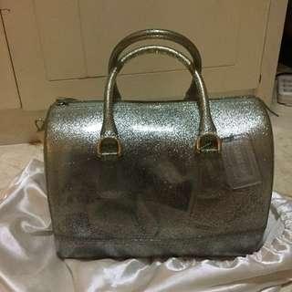 Furla Candy Bag Silver Glitter