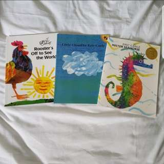 Set of 3 Eric Carle Books for Preschoolers
