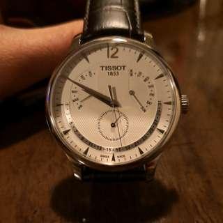 TISSOT 天梭萬年曆石英錶