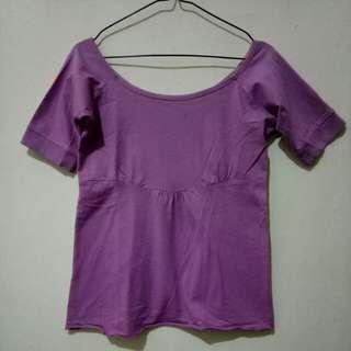 Purple Sabrina Top
