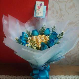 Bouquet Of Chocolate + Flowers
