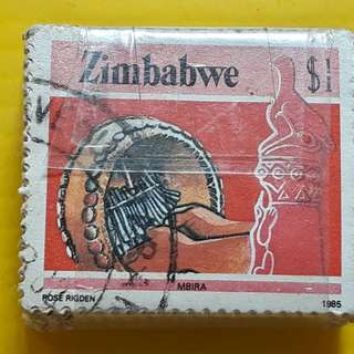 100 STAMPS LOT ( 1 BUNDLE ) - ZIMBABWE - 1985 - $1 - Used Stamp