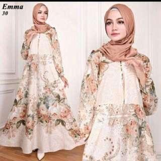 Dress maxi Bahan catton bangkok All size fit L
