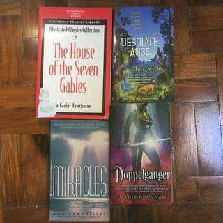 Miracles, Desolate Angel, Doppelganger, House of the Seven Gables (all 4 for P60)
