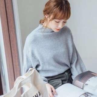 立領針織毛衣