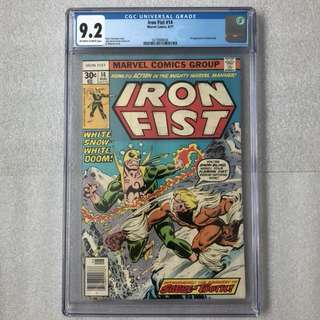 Iron fist 14 Cgc 9.2 ( 1st sabretooth )