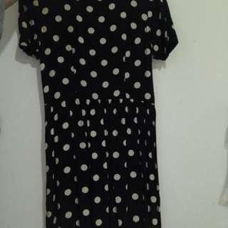 Topshop Polka Midi Dress