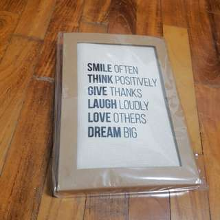 BN Inspirational Canvas Bookcover+ notebook