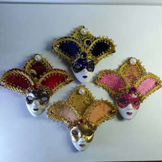 Souvenir 3D Mask Ref Magnet (Annual Festival Carnival of Venice, Italy) 3 Inches