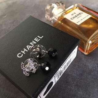 Chanel 黑色珠珠耳環 earring Classic jambo Diana boy Bag 復古中古 斜孭袋 韓國Korea文青 麻棉 闊身連身裙 褲 外套 褸 袋 寬鬆 card holder