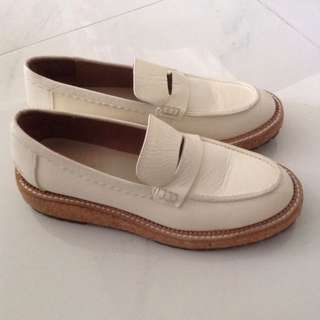 Initial女裝白色文青厚底小白鞋 短靴 Ankle Boots 韓國文青小白鞋