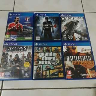 Kaset PlayStation ori 1 paket (isi 5pcs)