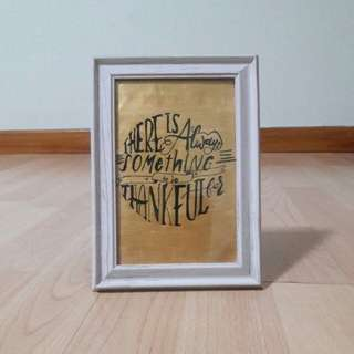 Framed Calligraphy Quote