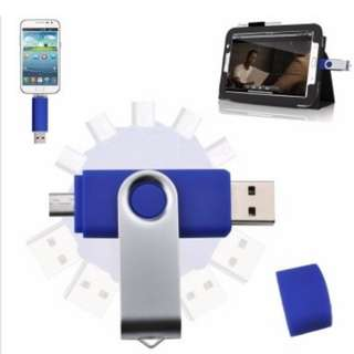 2 IN 1 OTG USB Pen Drive 256GB [Dark blue]